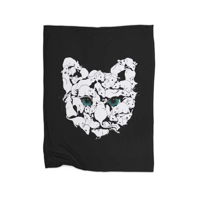 PUSSYRAT Home Fleece Blanket Blanket by SPYKEEE's Artist Shop