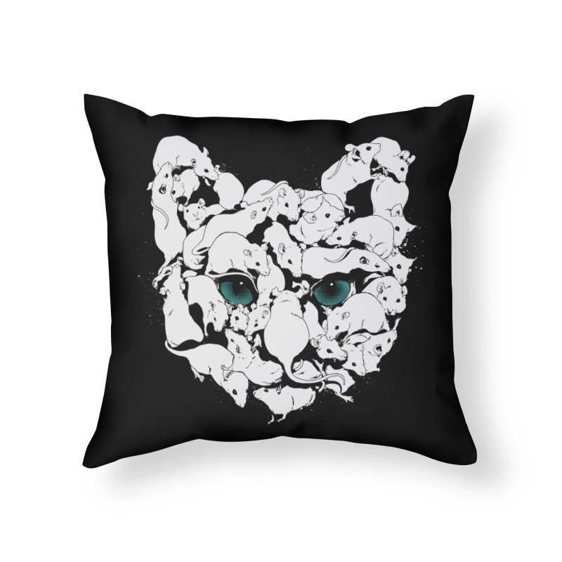 PUSSYRAT Home Throw Pillow by SPYKEEE's Artist Shop