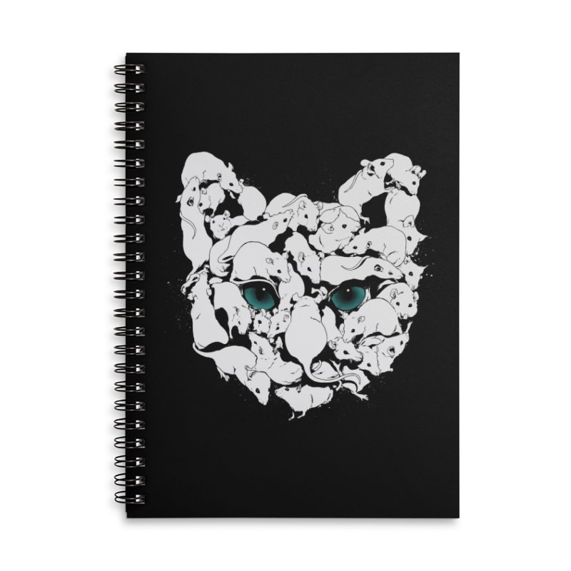PUSSYRAT Accessories Lined Spiral Notebook by SPYKEEE's Artist Shop