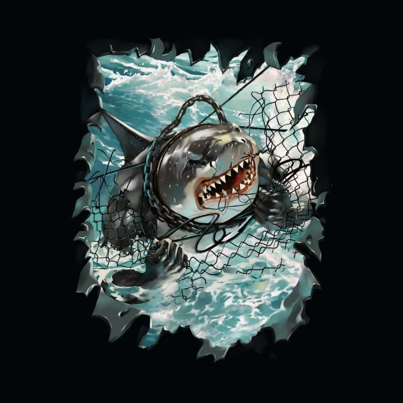 SHARK BAIT Kids T-Shirt by SPYKEEE's Artist Shop