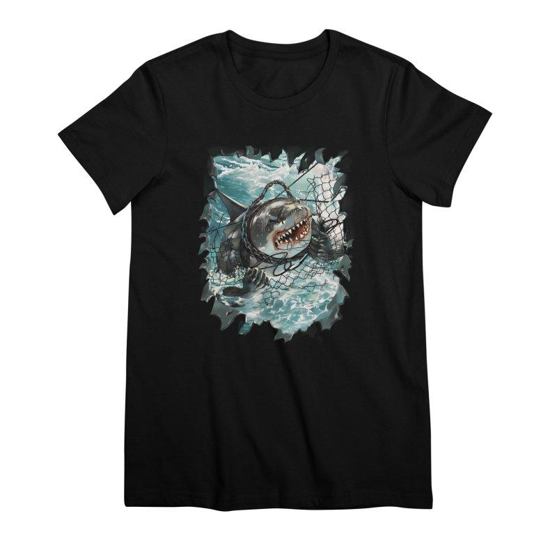 SHARK BAIT Women's Premium T-Shirt by SPYKEEE's Artist Shop