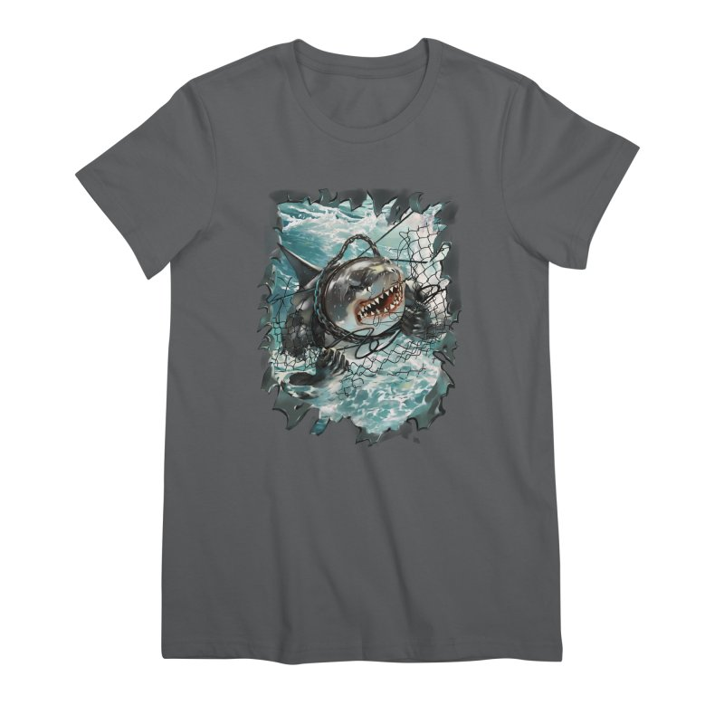 SHARK BAIT Women's Premium T-Shirt by SPYKEEE's Artist Shop