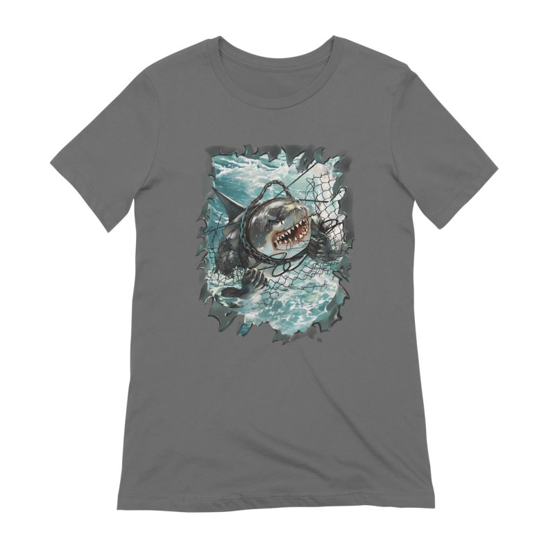 SHARK BAIT Women's Extra Soft T-Shirt by SPYKEEE's Artist Shop