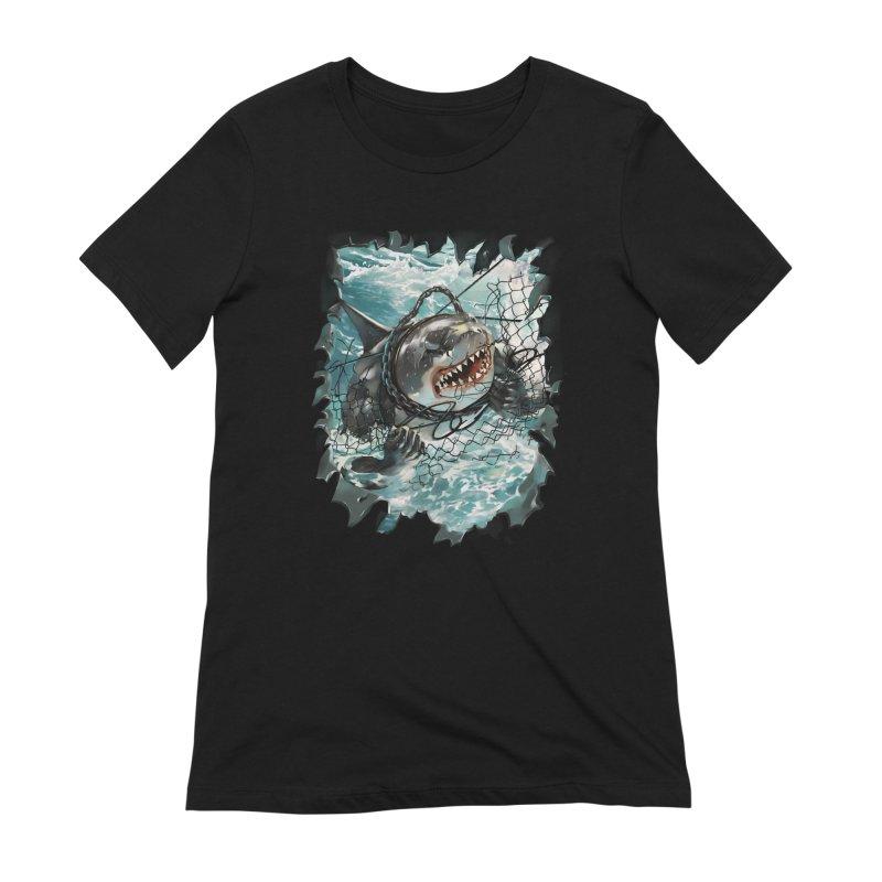 SHARK BAIT Women's Extra Soft T-Shirt by SPYKEEE's Artist Shop