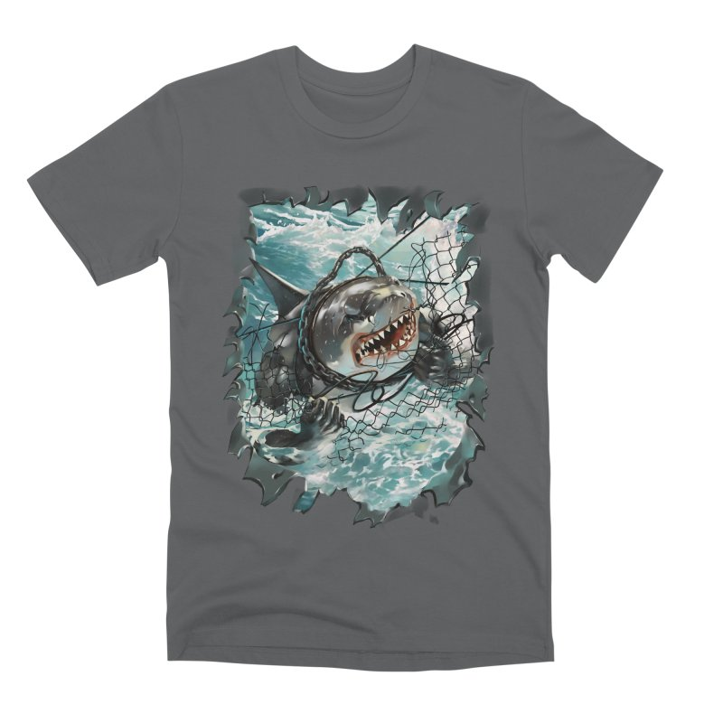 SHARK BAIT Men's Premium T-Shirt by SPYKEEE's Artist Shop