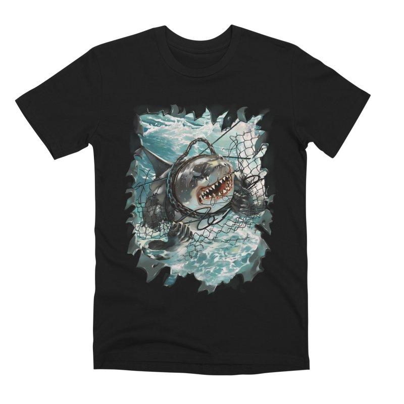 SHARK BAIT Men's Premium T-Shirt by SPYKEEE's Artist Shop