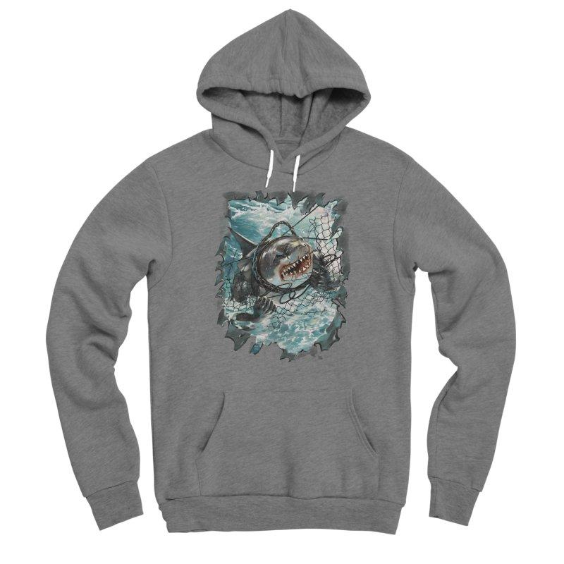 SHARK BAIT Men's Pullover Hoody by SPYKEEE's Artist Shop