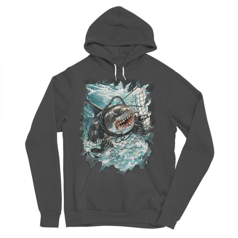 SHARK BAIT Men's Sponge Fleece Pullover Hoody by SPYKEEE's Artist Shop