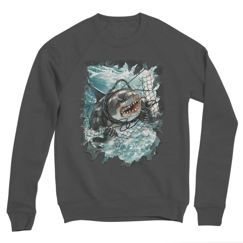 SHARK BAIT Men's Sponge Fleece Sweatshirt by SPYKEEE's Artist Shop