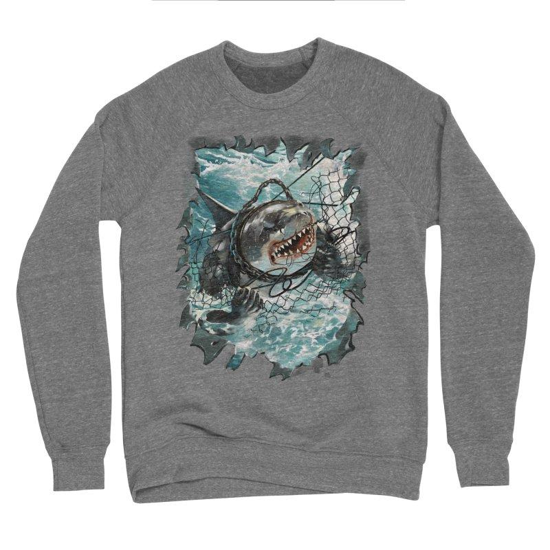 SHARK BAIT Men's Sponge Fleece Sweatshirt by SPYKEEE's Artist Shop