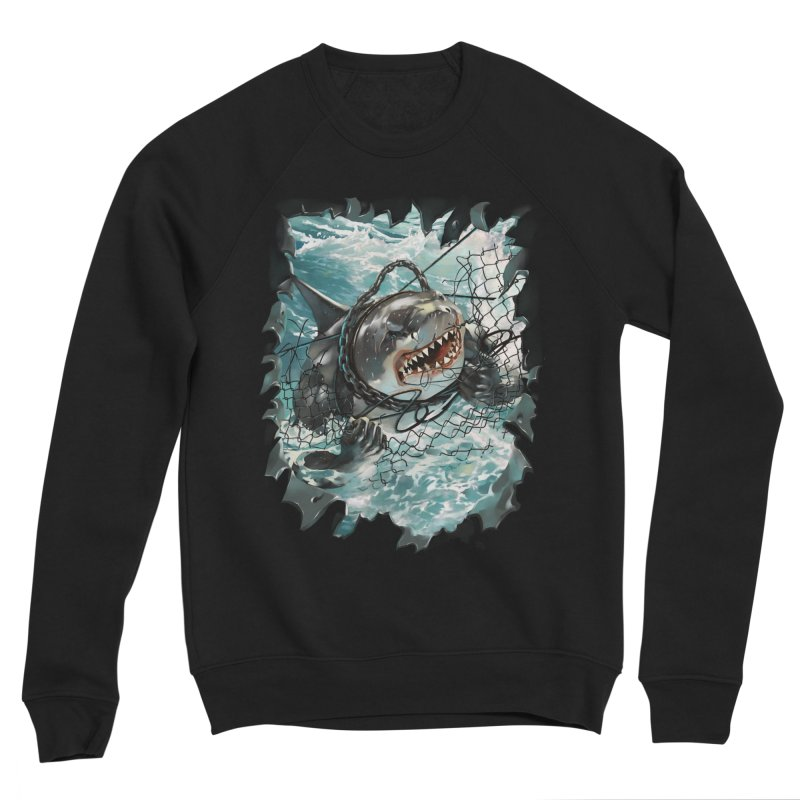 SHARK BAIT Women's Sponge Fleece Sweatshirt by SPYKEEE's Artist Shop