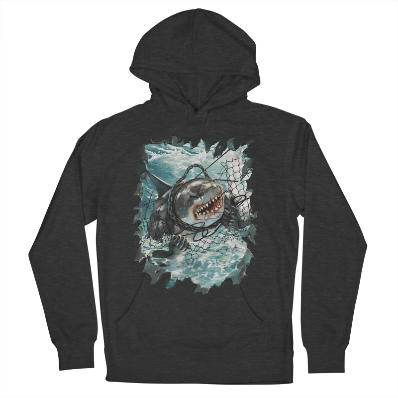 SHARK BAIT Women's French Terry Pullover Hoody by SPYKEEE's Artist Shop
