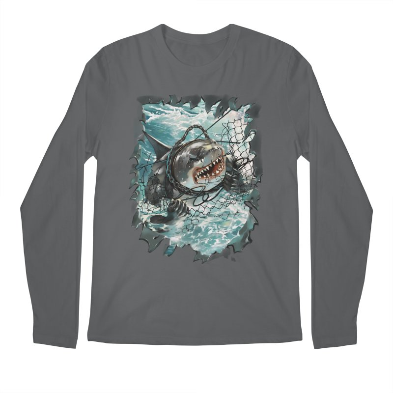 SHARK BAIT Men's Longsleeve T-Shirt by SPYKEEE's Artist Shop