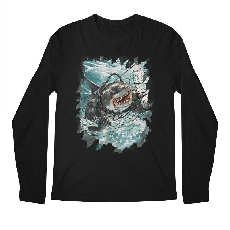 SHARK BAIT Men's Regular Longsleeve T-Shirt by SPYKEEE's Artist Shop