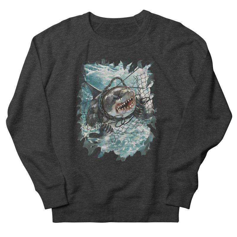 SHARK BAIT Men's French Terry Sweatshirt by SPYKEEE's Artist Shop