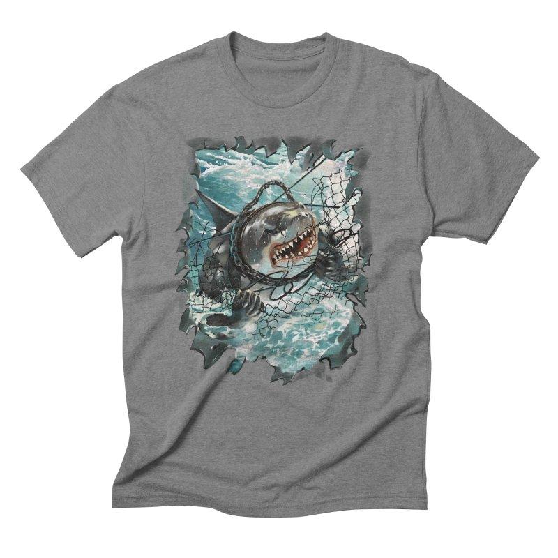 SHARK BAIT Men's Triblend T-Shirt by SPYKEEE's Artist Shop