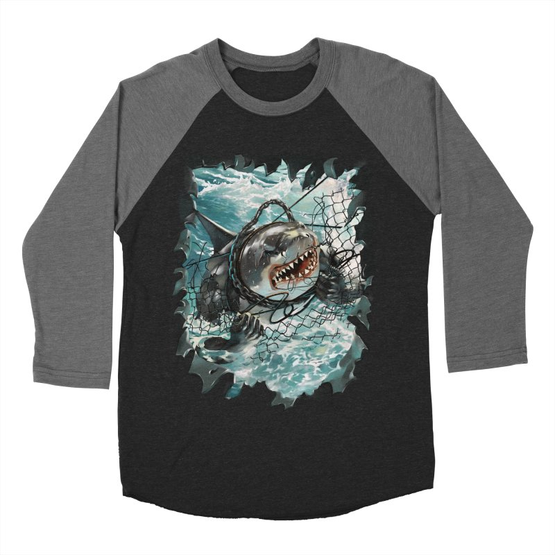 SHARK BAIT Women's Baseball Triblend Longsleeve T-Shirt by SPYKEEE's Artist Shop