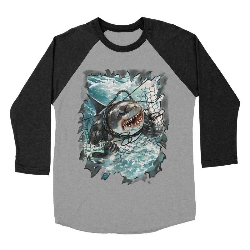 SHARK BAIT Men's Baseball Triblend Longsleeve T-Shirt by SPYKEEE's Artist Shop