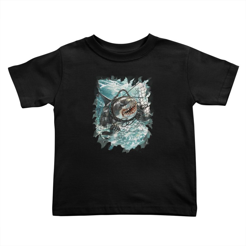 SHARK BAIT Kids Toddler T-Shirt by SPYKEEE's Artist Shop