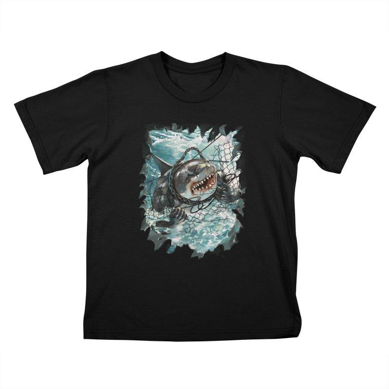 SHARK BAIT Kids T-Shirt by SPYKEEE's Artist Shop