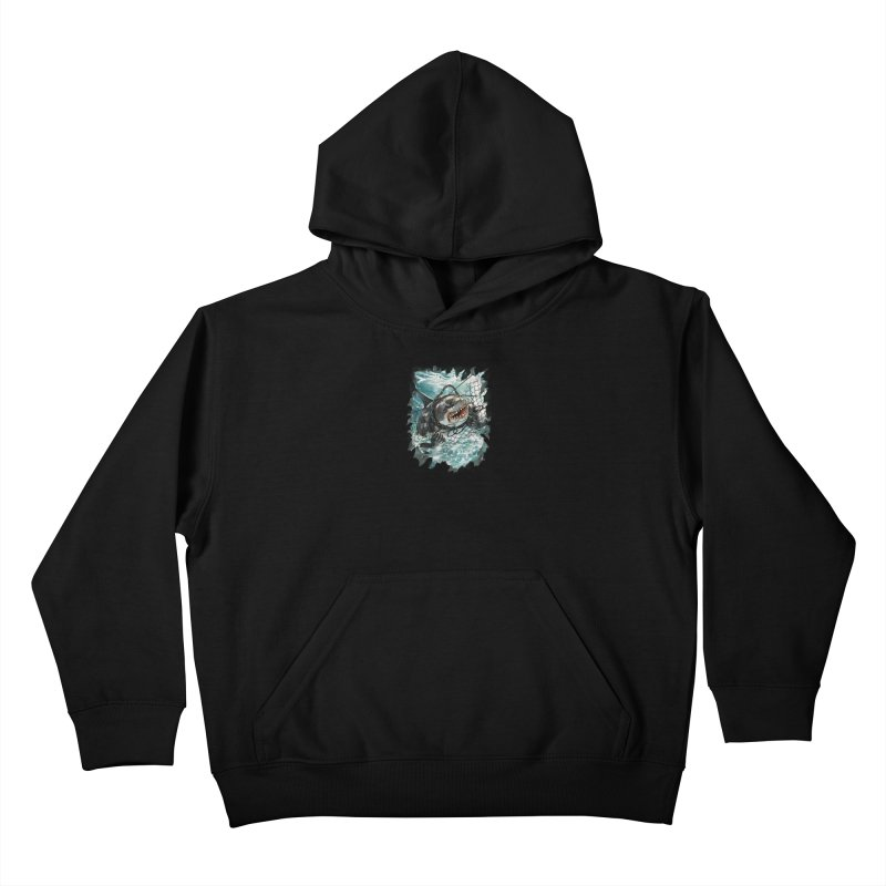 SHARK BAIT Kids Pullover Hoody by SPYKEEE's Artist Shop