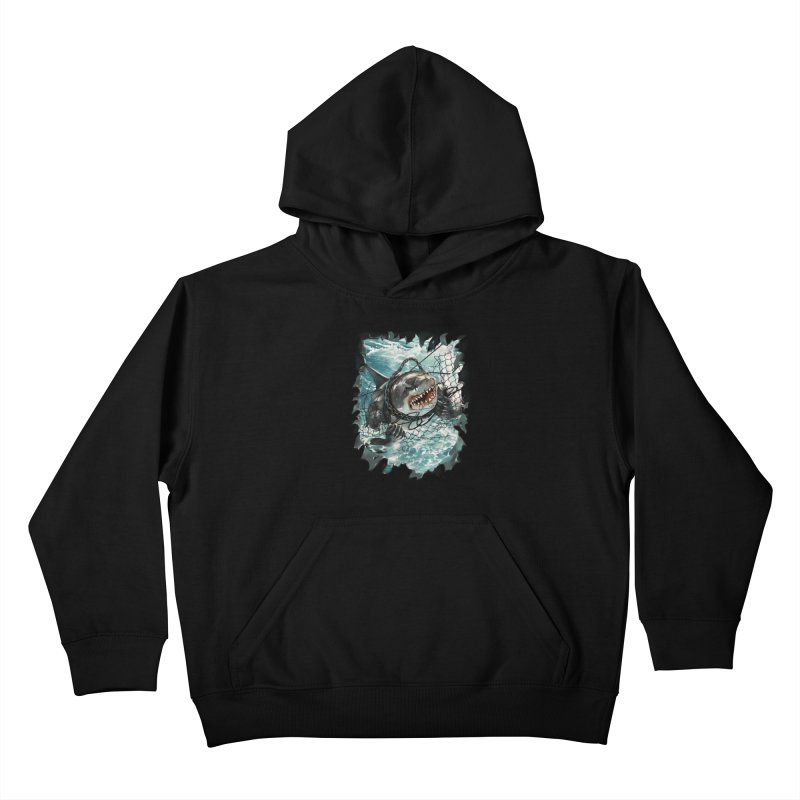SHARK BAIT Kids Pullover Hoody by SPYKEEE's Artist Shop