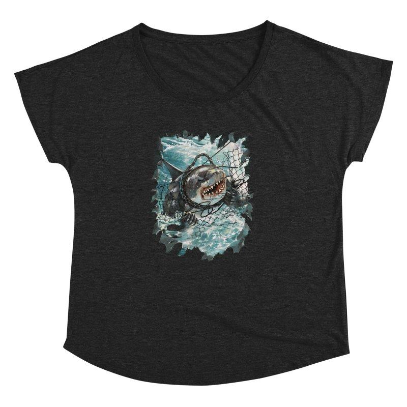 SHARK BAIT Women's Dolman Scoop Neck by SPYKEEE's Artist Shop