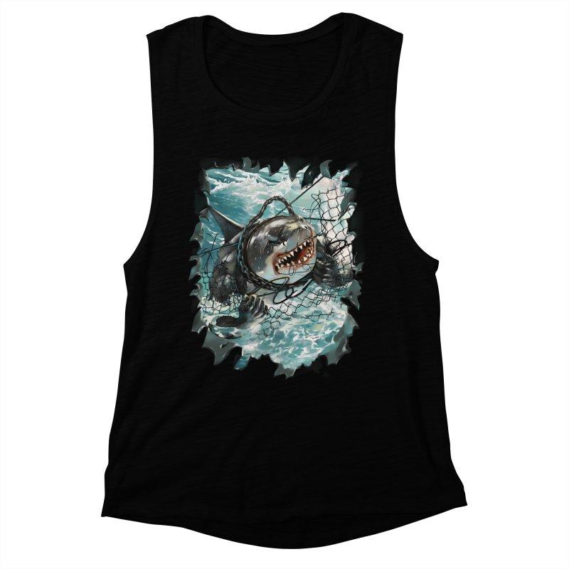 SHARK BAIT Women's Muscle Tank by SPYKEEE's Artist Shop