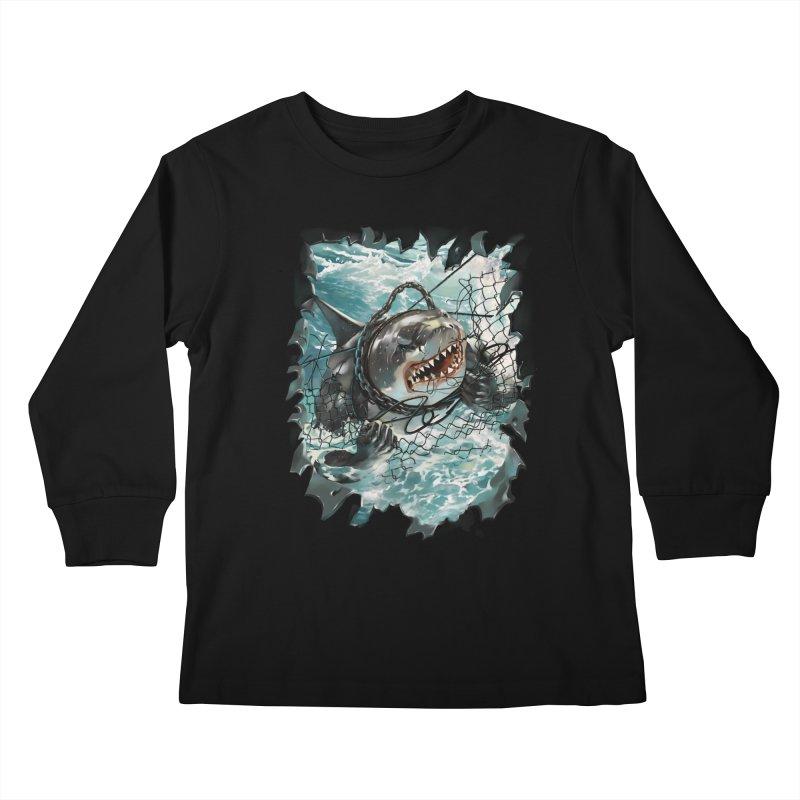 SHARK BAIT Kids Longsleeve T-Shirt by SPYKEEE's Artist Shop