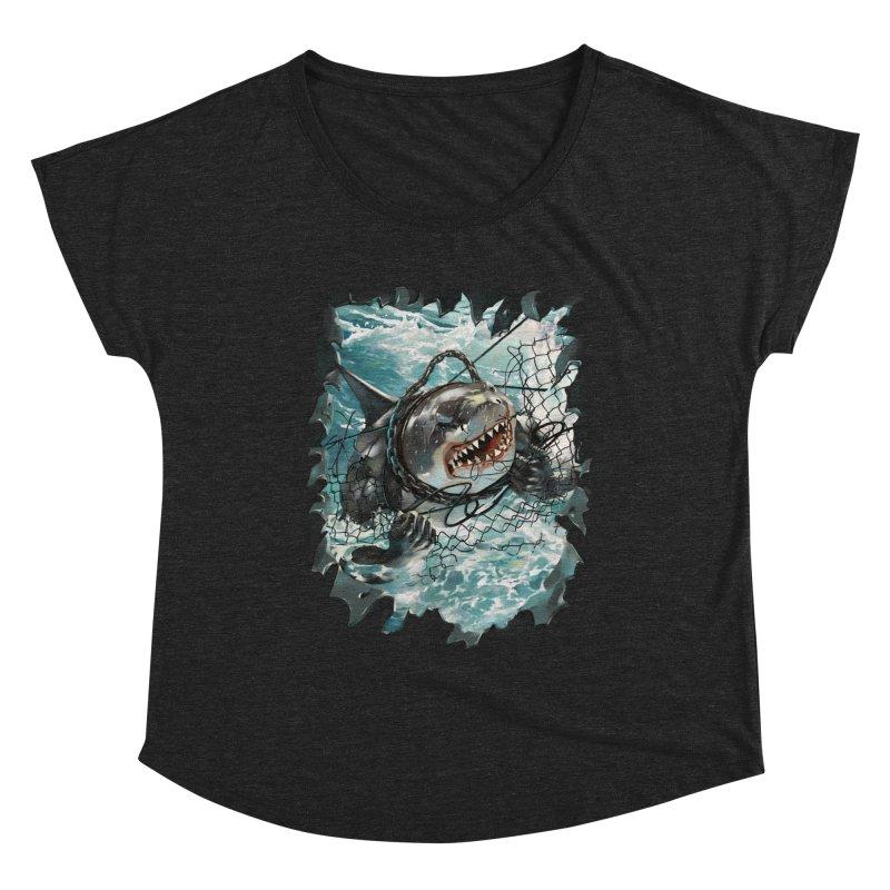 SHARK BAIT Women's Scoop Neck by SPYKEEE's Artist Shop