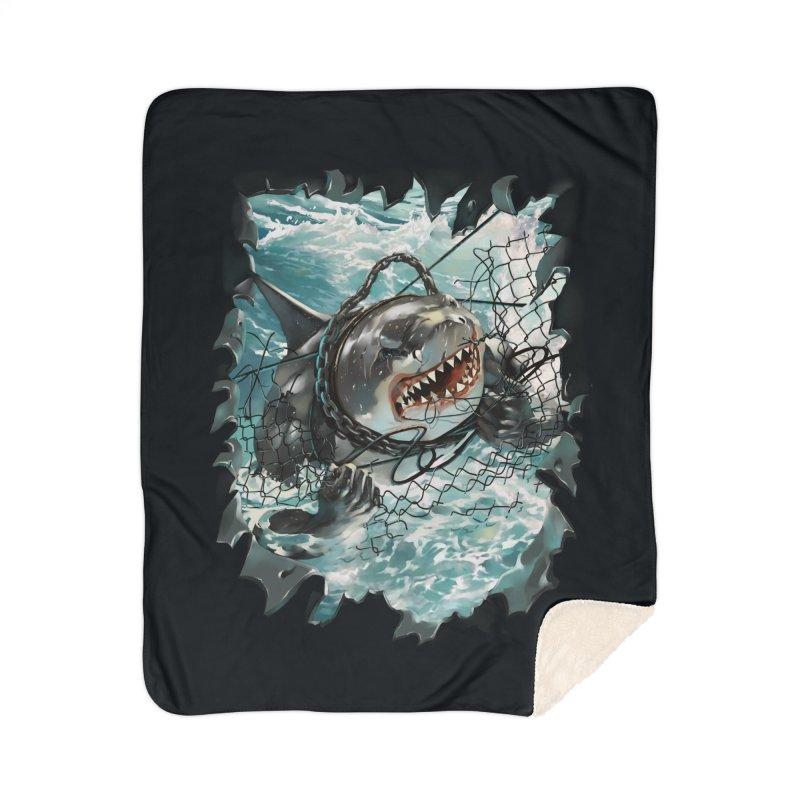 SHARK BAIT Home Sherpa Blanket Blanket by SPYKEEE's Artist Shop