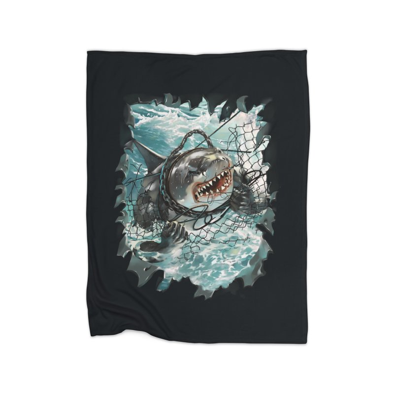 SHARK BAIT Home Fleece Blanket Blanket by SPYKEEE's Artist Shop