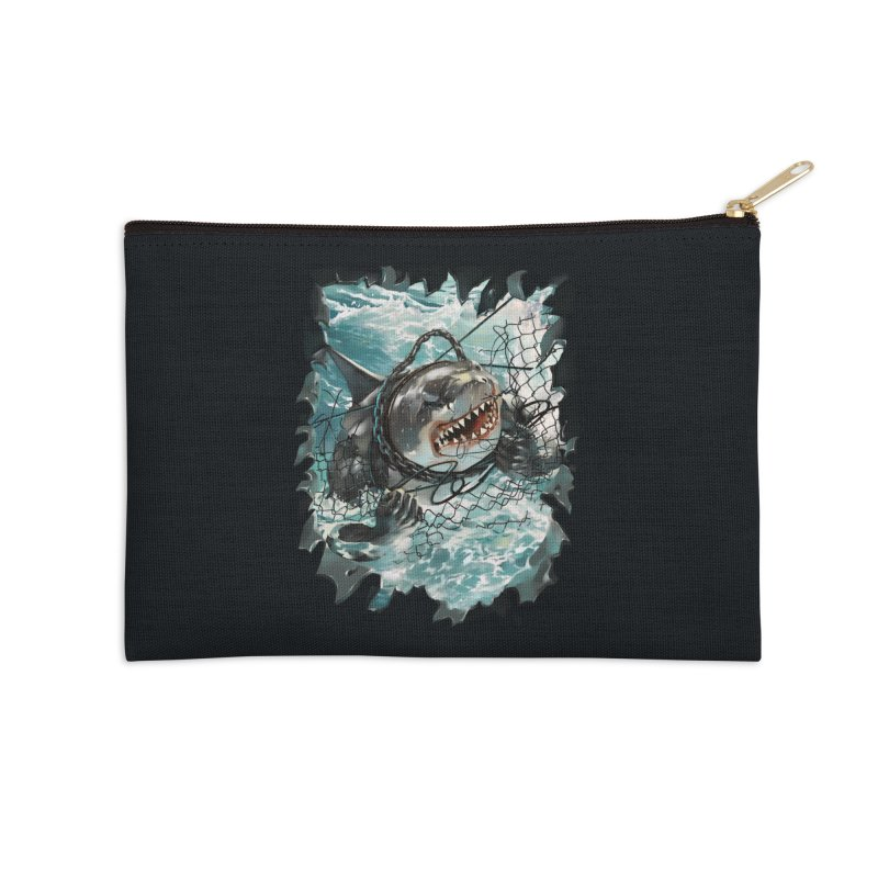 SHARK BAIT Accessories Zip Pouch by SPYKEEE's Artist Shop