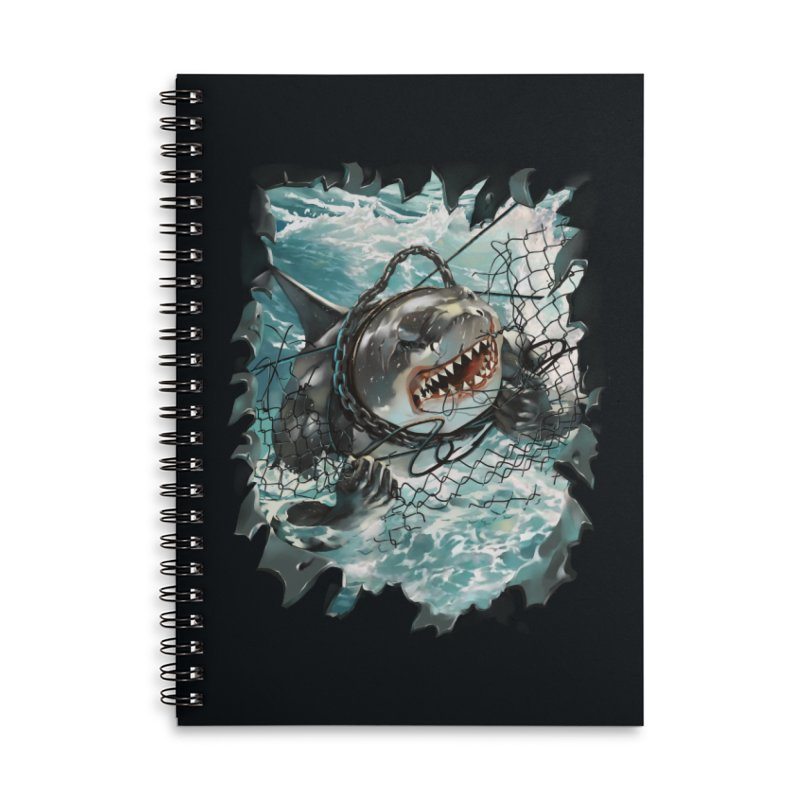 SHARK BAIT Accessories Lined Spiral Notebook by SPYKEEE's Artist Shop