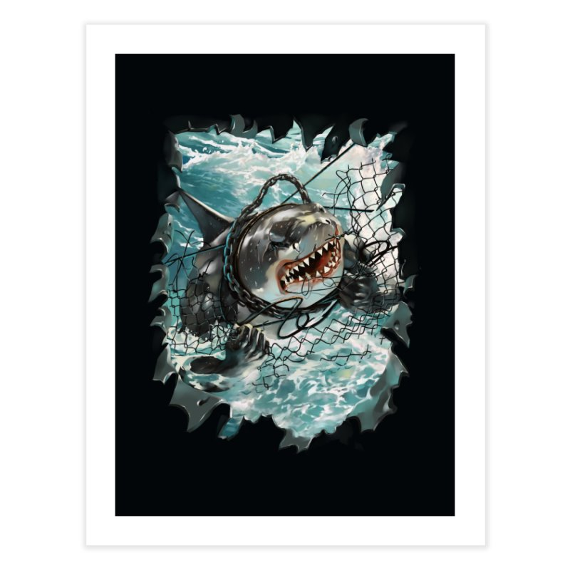 SHARK BAIT Home Fine Art Print by SPYKEEE's Artist Shop