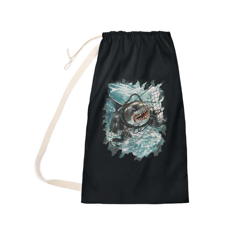 SHARK BAIT Accessories Laundry Bag Bag by SPYKEEE's Artist Shop