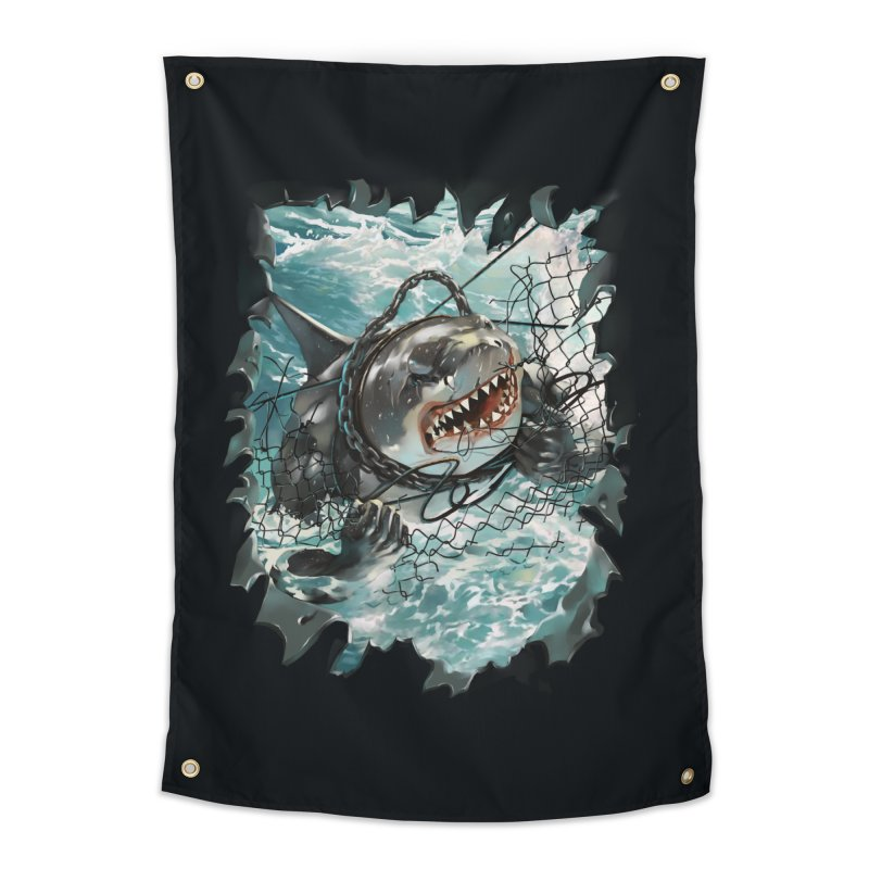 SHARK BAIT Home Tapestry by SPYKEEE's Artist Shop