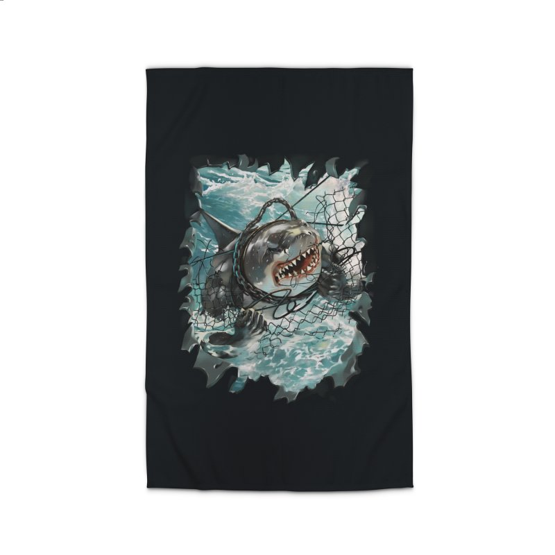 SHARK BAIT Home Rug by SPYKEEE's Artist Shop