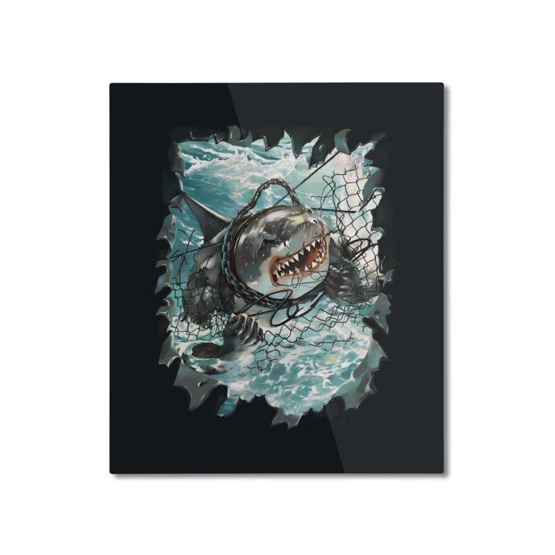 SHARK BAIT Home Mounted Aluminum Print by SPYKEEE's Artist Shop