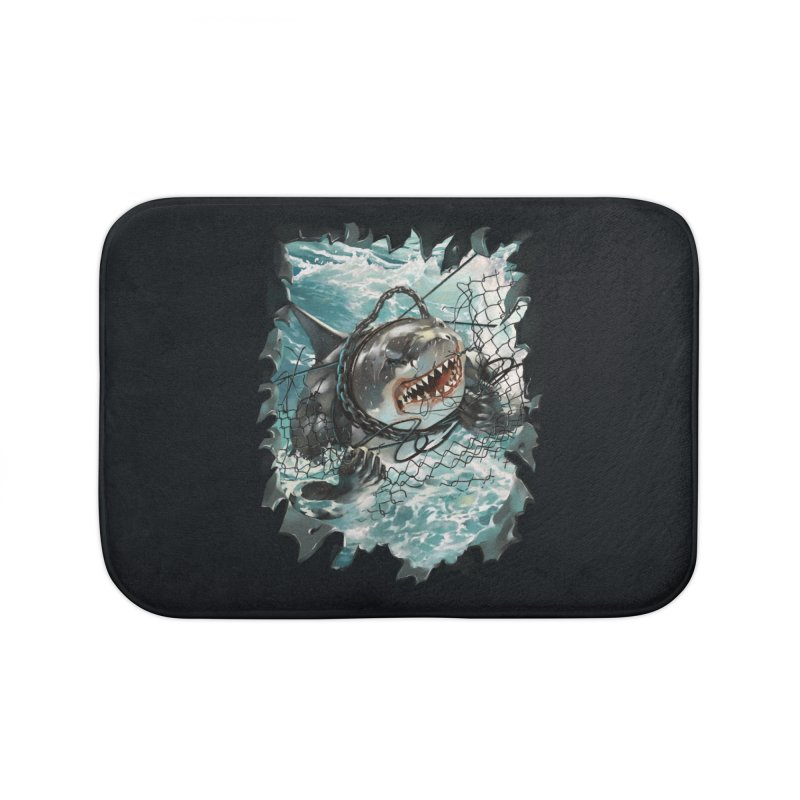 SHARK BAIT Home Bath Mat by SPYKEEE's Artist Shop