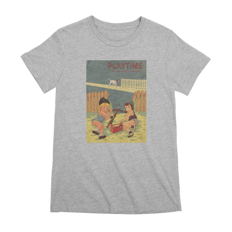 PLAYTIME Women's Premium T-Shirt by SPYKEEE's Artist Shop
