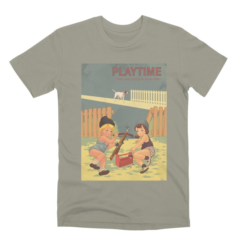 PLAYTIME Men's Premium T-Shirt by SPYKEEE's Artist Shop