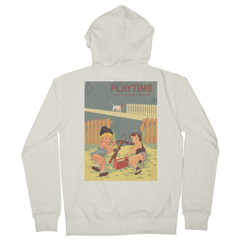 PLAYTIME Men's French Terry Zip-Up Hoody by SPYKEEE's Artist Shop
