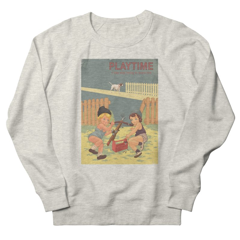 PLAYTIME Men's French Terry Sweatshirt by SPYKEEE's Artist Shop