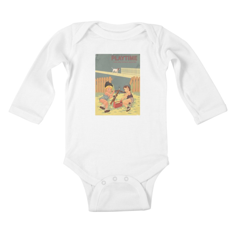 PLAYTIME Kids Baby Longsleeve Bodysuit by SPYKEEE's Artist Shop