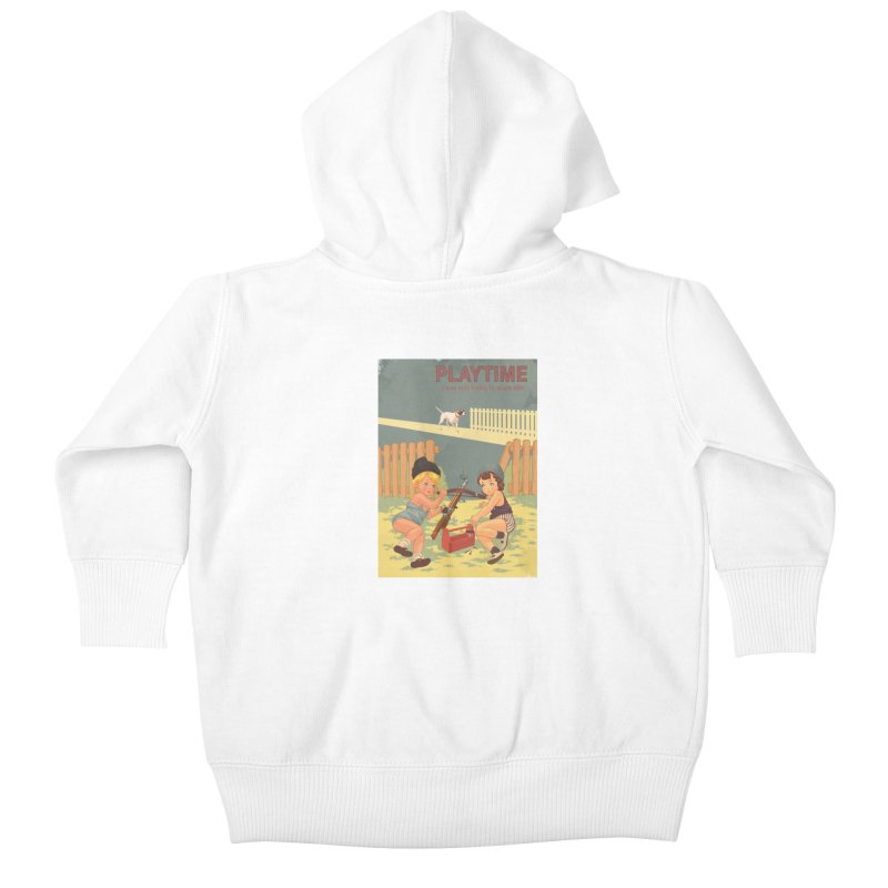 PLAYTIME Kids Baby Zip-Up Hoody by SPYKEEE's Artist Shop