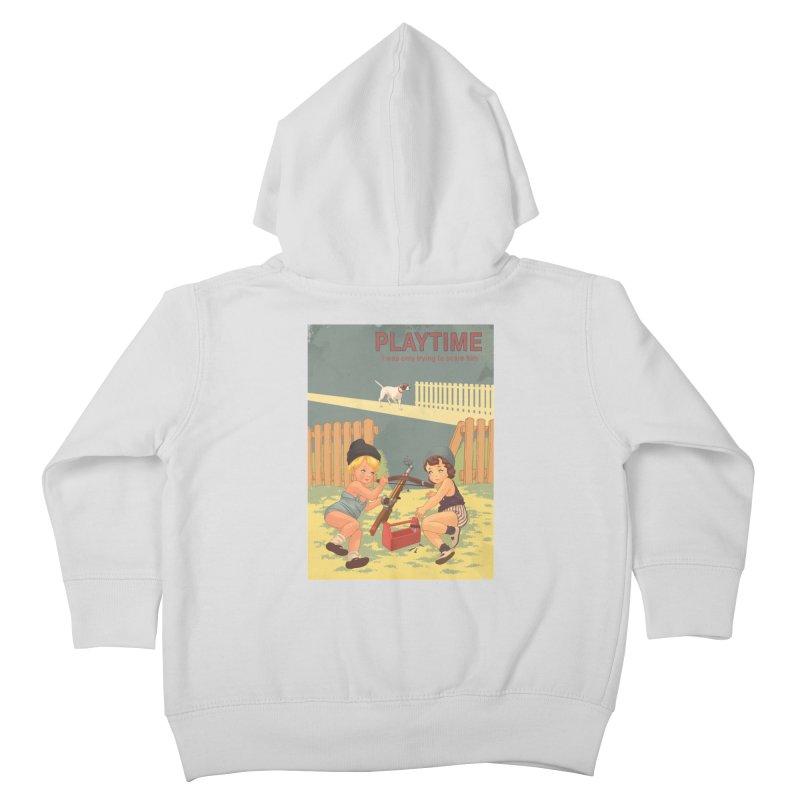 PLAYTIME Kids Toddler Zip-Up Hoody by SPYKEEE's Artist Shop