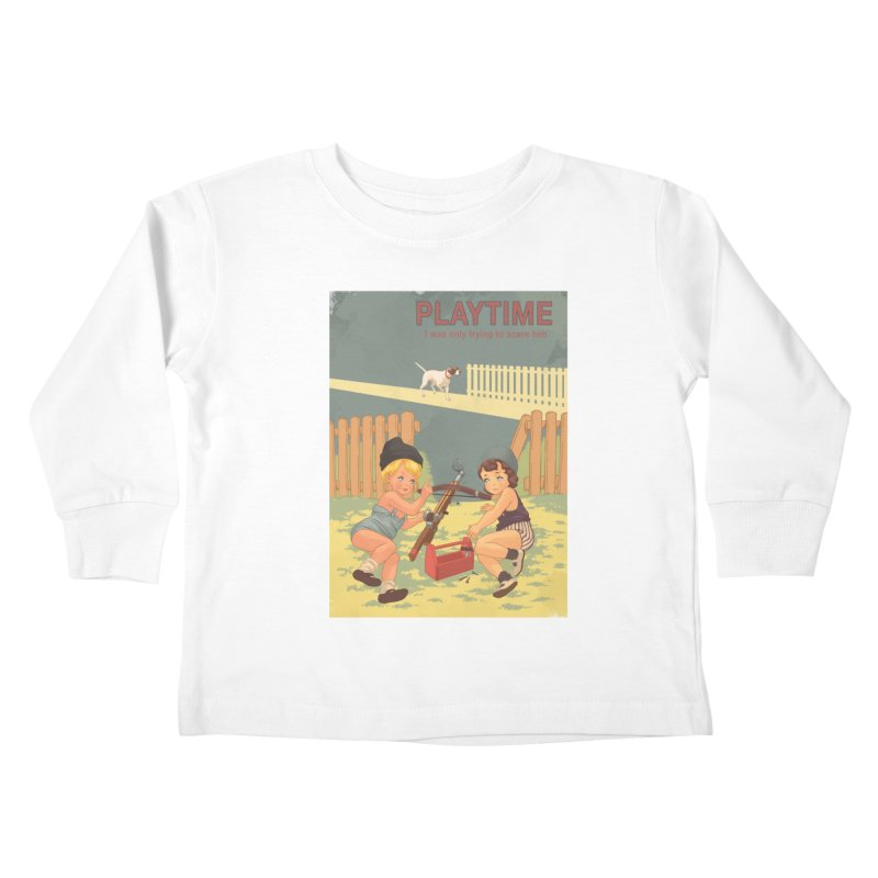 PLAYTIME Kids Toddler Longsleeve T-Shirt by SPYKEEE's Artist Shop