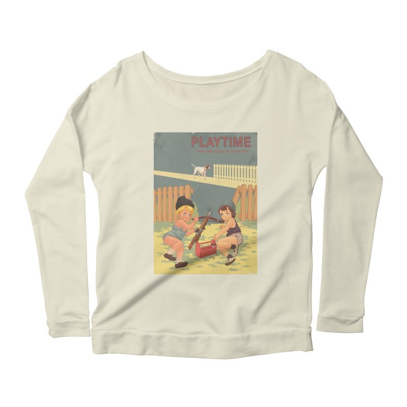 PLAYTIME Women's Scoop Neck Longsleeve T-Shirt by SPYKEEE's Artist Shop