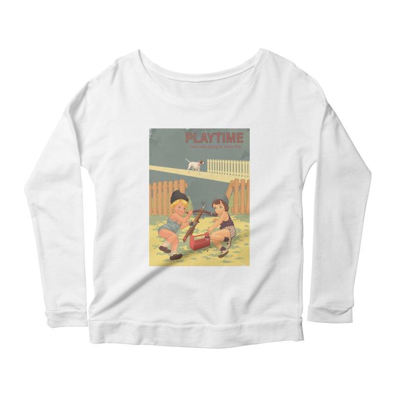 PLAYTIME Women's Scoop Neck Longsleeve T-Shirt by SPYKEEE's Artist Shop